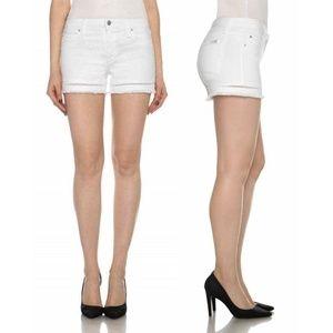 "Joe's The Ozzie 4"" Cutoff Short White Shorts"